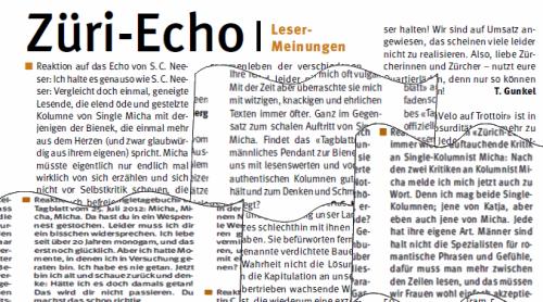 Micha Kolumne, Züri-Echo