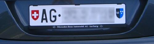 Aargauer Nummernschild