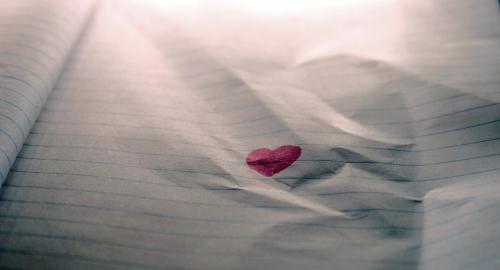 Liebesbrief mit Herz
